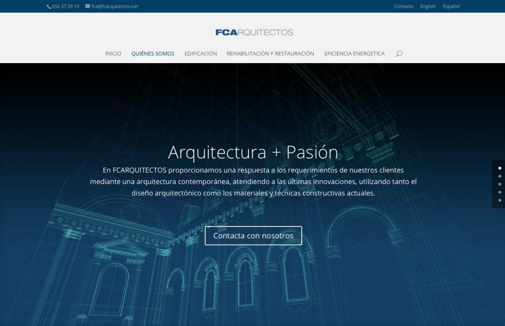 Página web de FCArquitectos