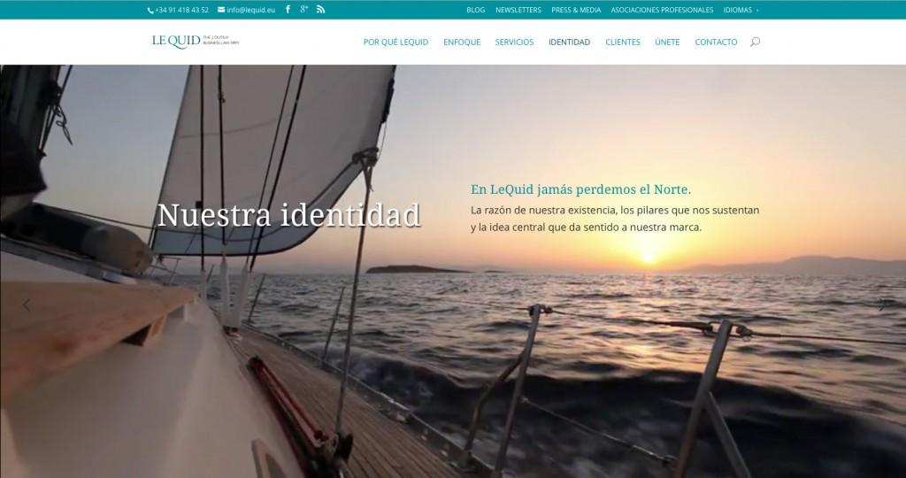 Diseño web página web para LeQuid