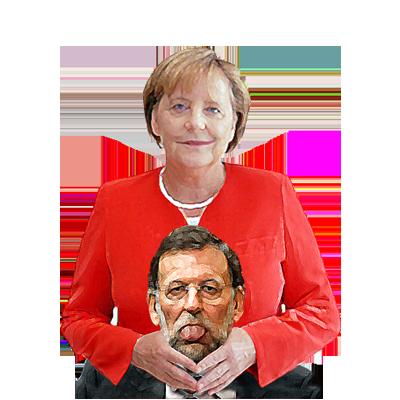 Merkel ahogando a Rajoy