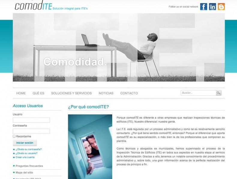 Sitio web Comodite
