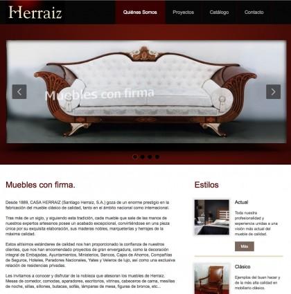 Página web Herraiz muebles