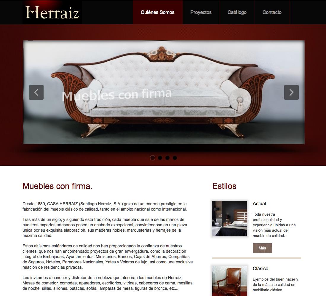 P Gina Web Herraiz Muebles Mensaje De Publicidad # Muebles Pagina Web