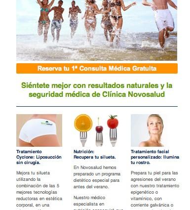 E-mailing y banners para Clínica Novosalud
