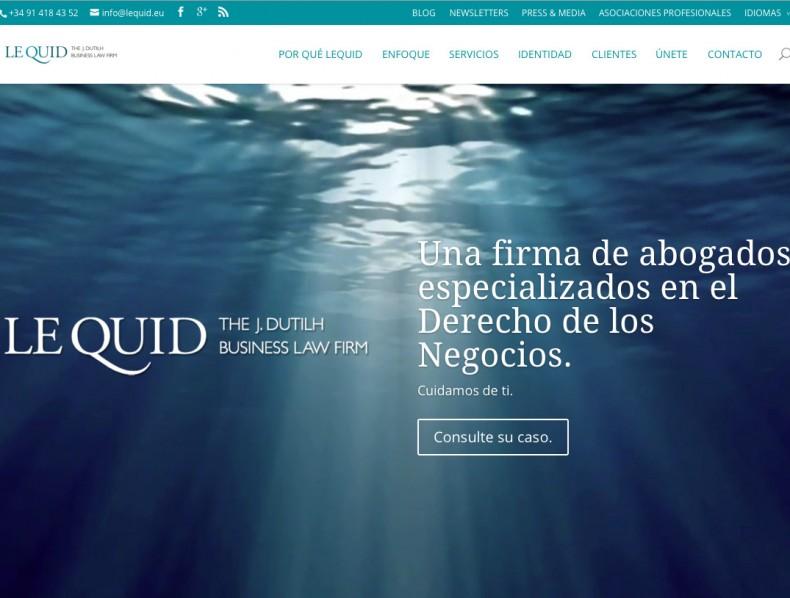 Sitio web para LeQuid