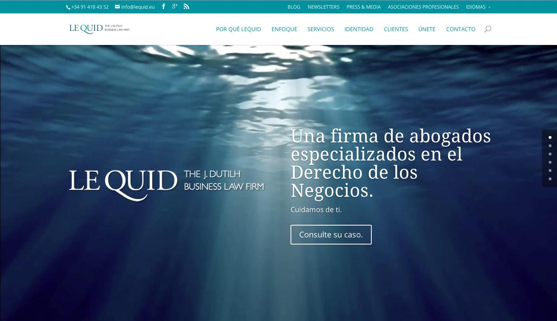 página web despacho de abogados LeQuid