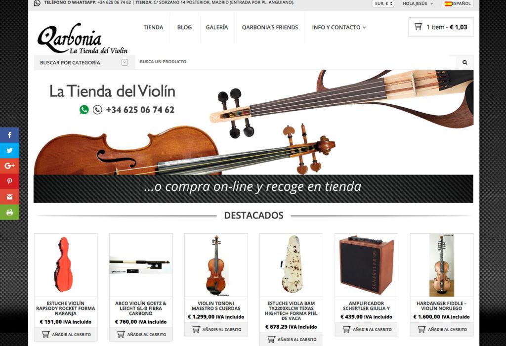 Diseño de tienda on-line