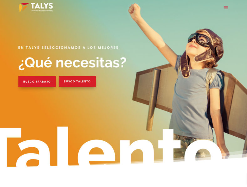 Web corporativa para Talys, Personal Talent Recruitment