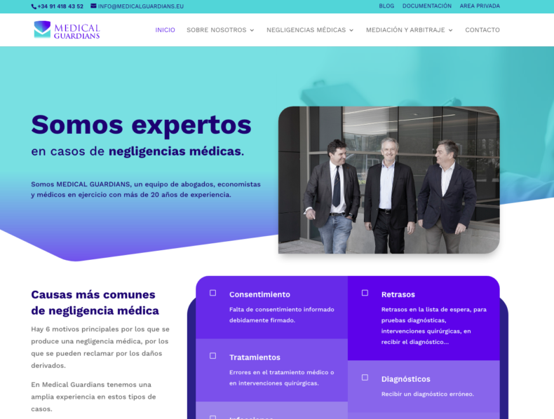 Desarrollo web para Medical Guardians