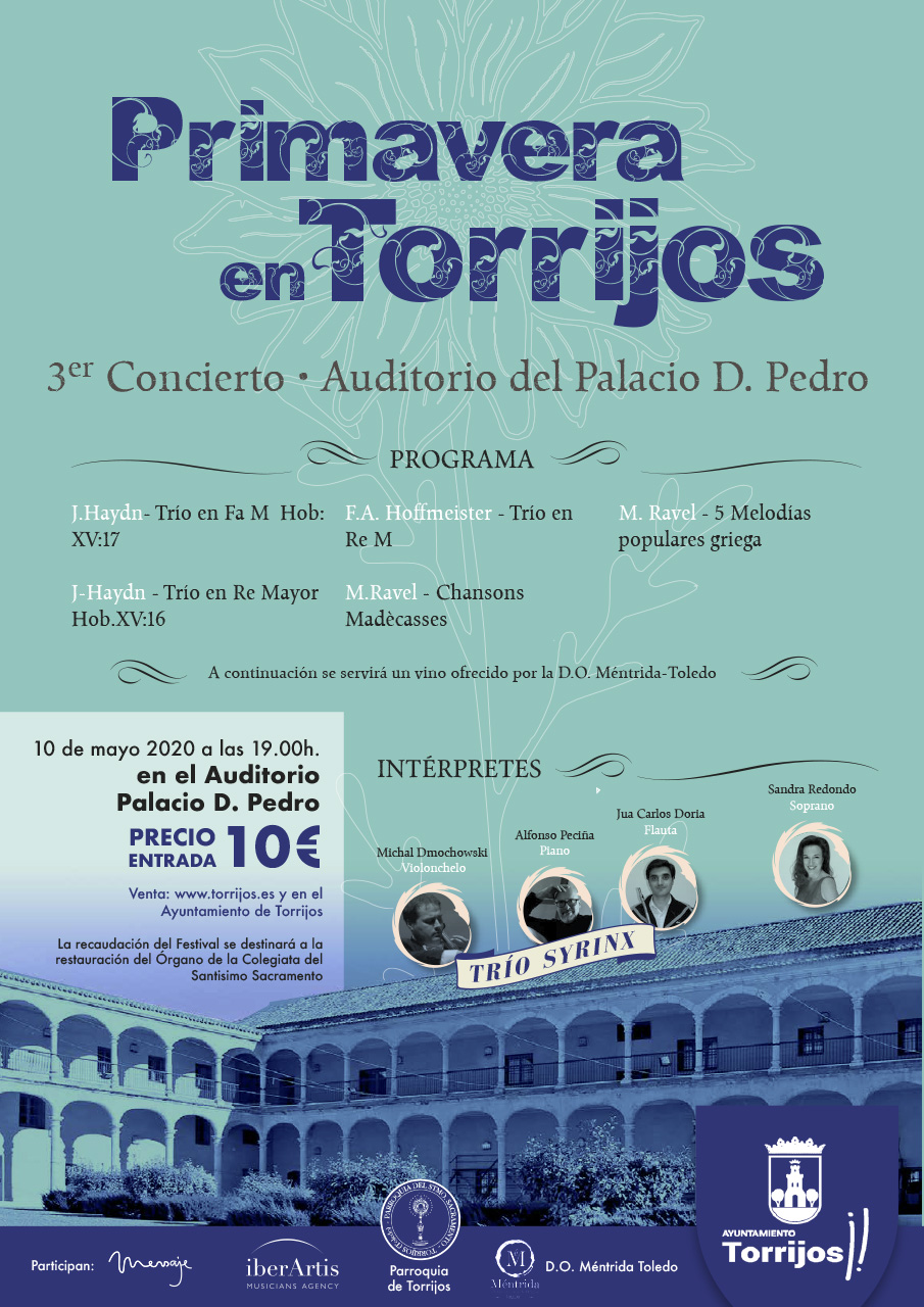 Diseño cartel música en Torrijos