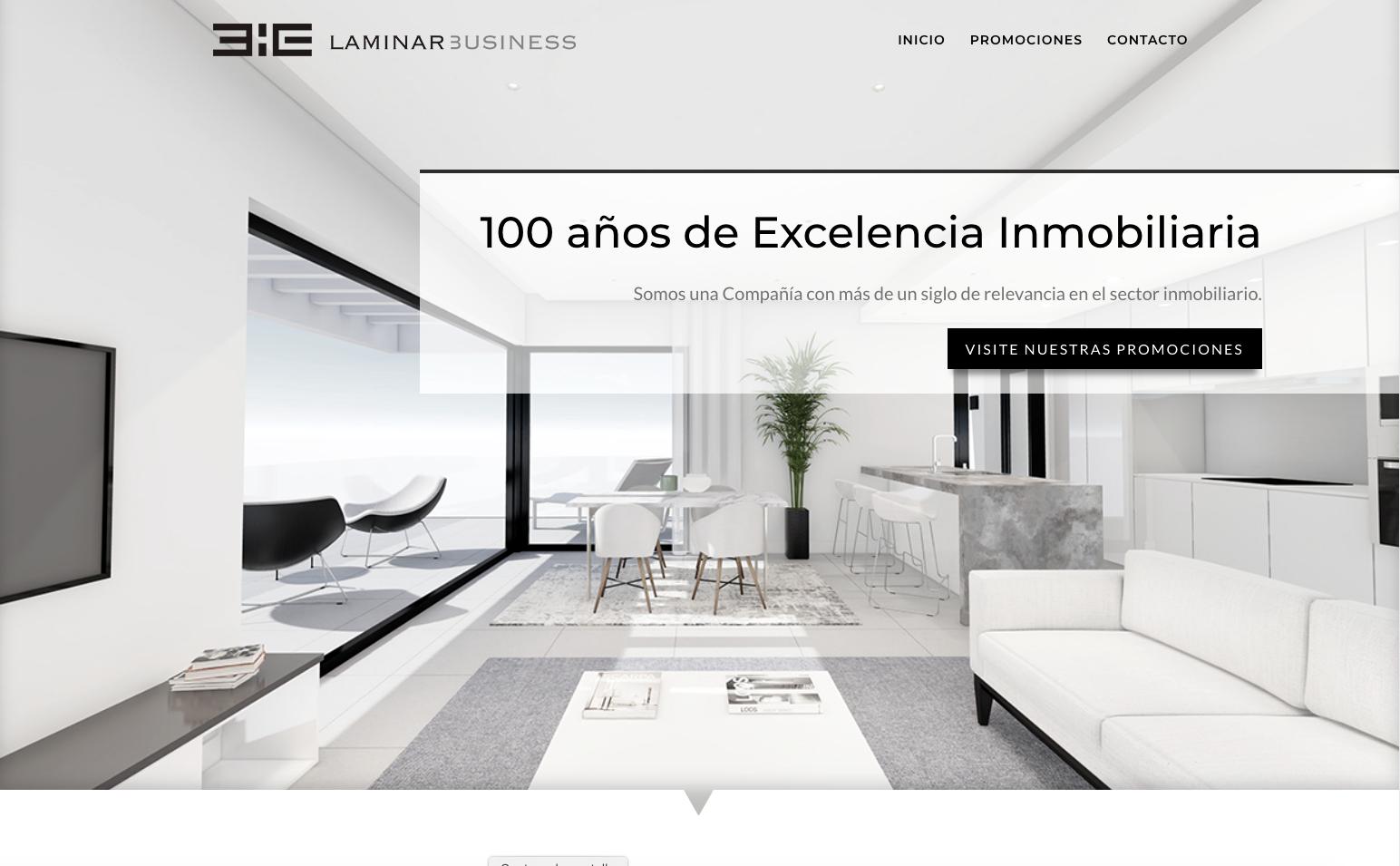 Diseño de página web para inmobiliaria